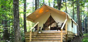 Adirondack camping, Cabin