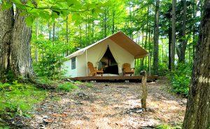 camping vs. glamping, Adirondack camping, Cabin, New York
