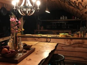 luxury camping,Rustic dining