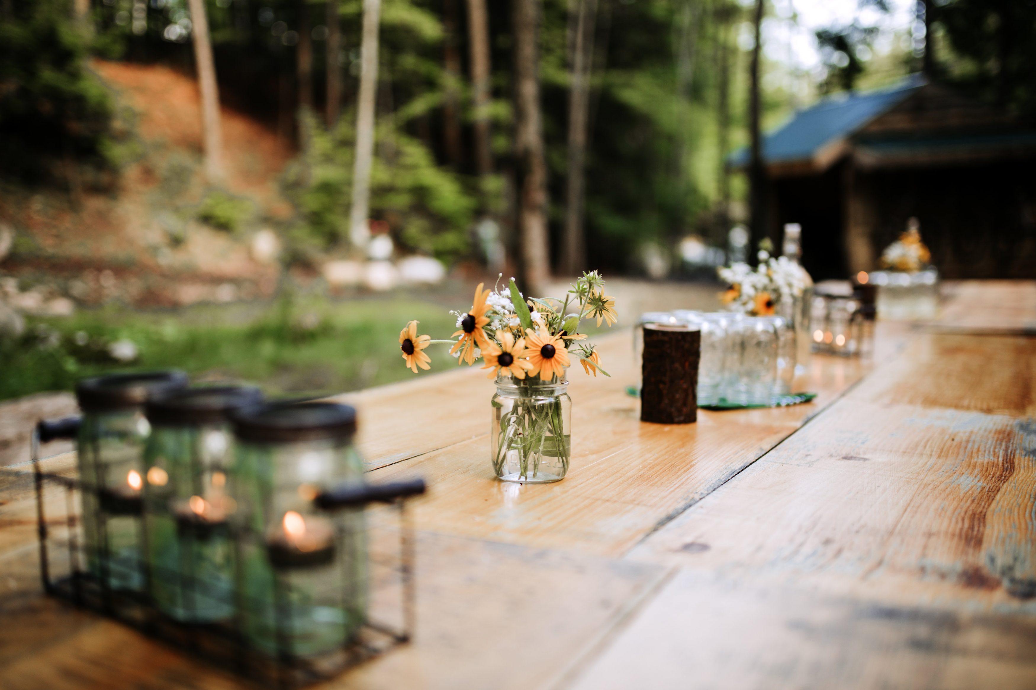romantic camping getaway